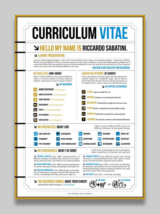 creative resume design 12 - Cv Va Resume Khac Nhau