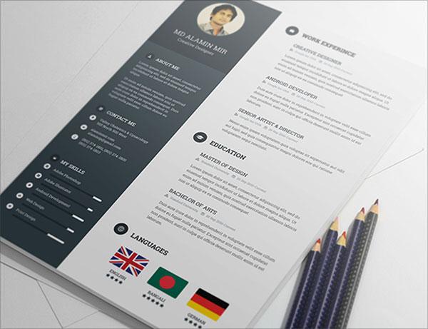 Free-Resume-PSD-Template